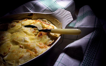Turnip and potato gratin