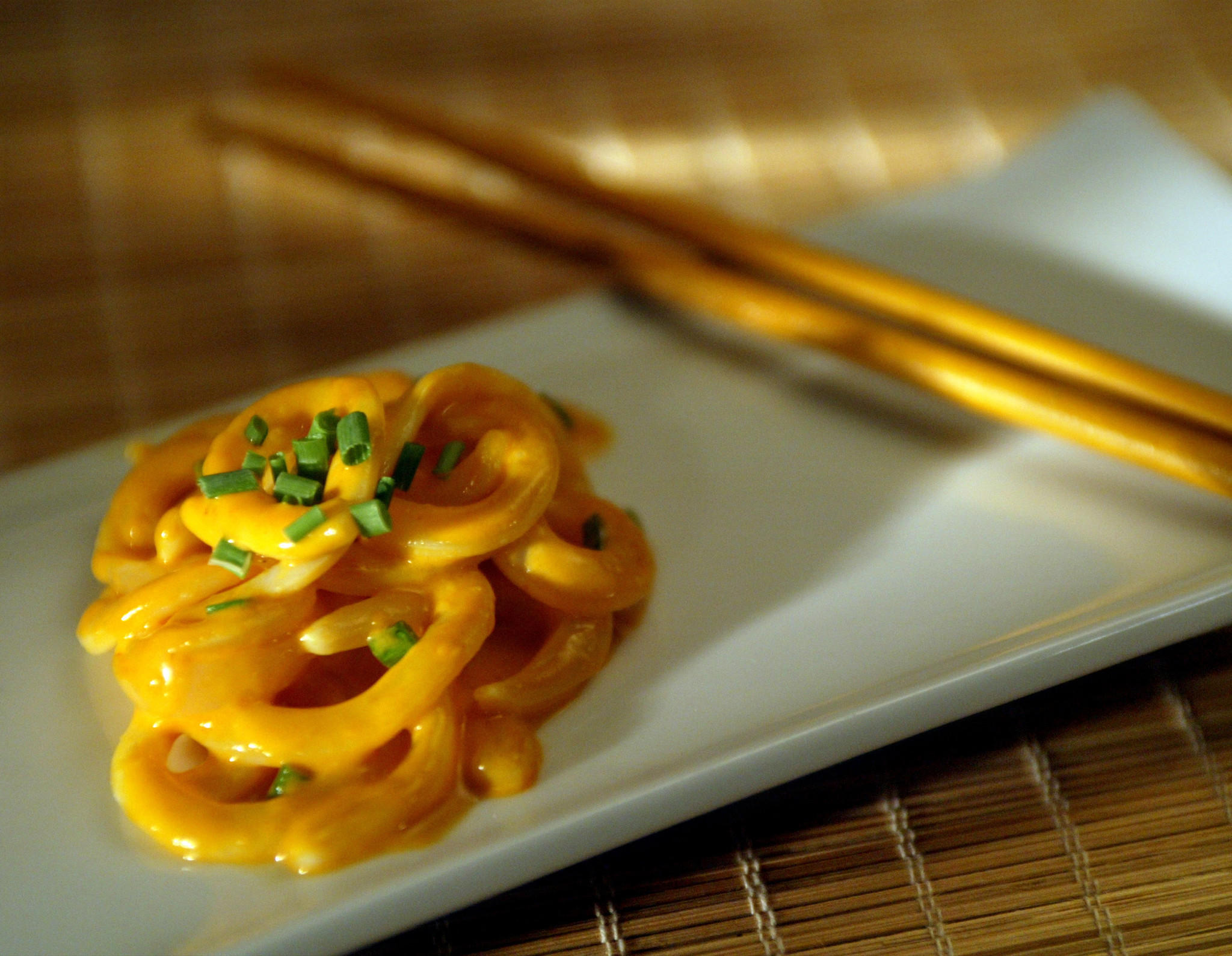 Cuttlefish pasta with uni sauce