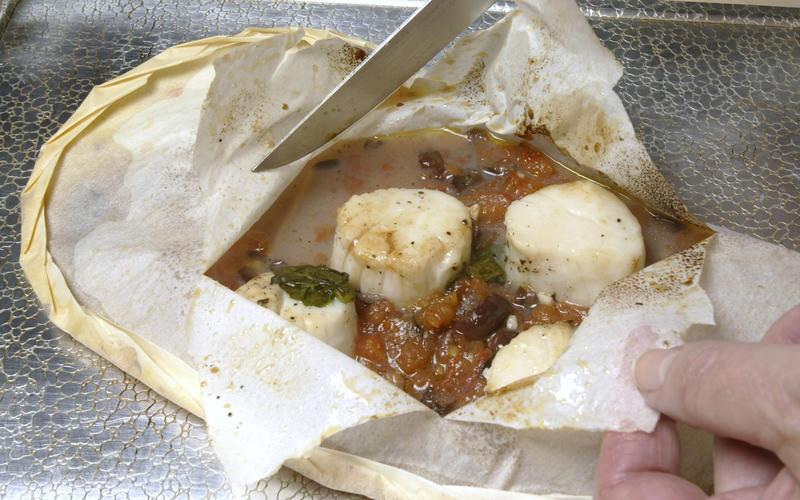 Recipe Scallops Nicoise En Papillote California Cookbook