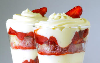 Water Grill's strawberry trifle