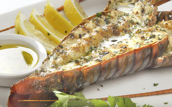 Grilled Pacific spiny lobster