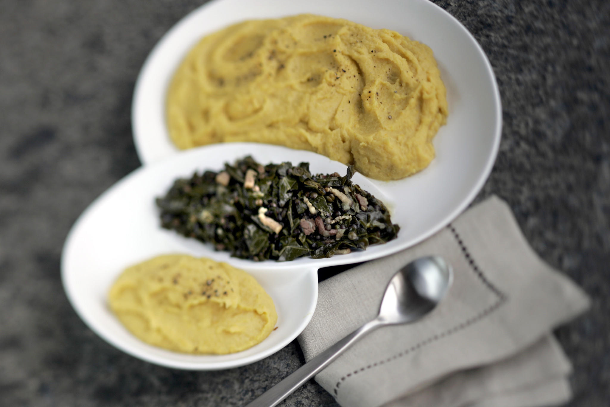 Spiced sweet potato puree