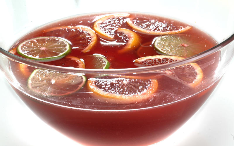 Blood orange white sangria