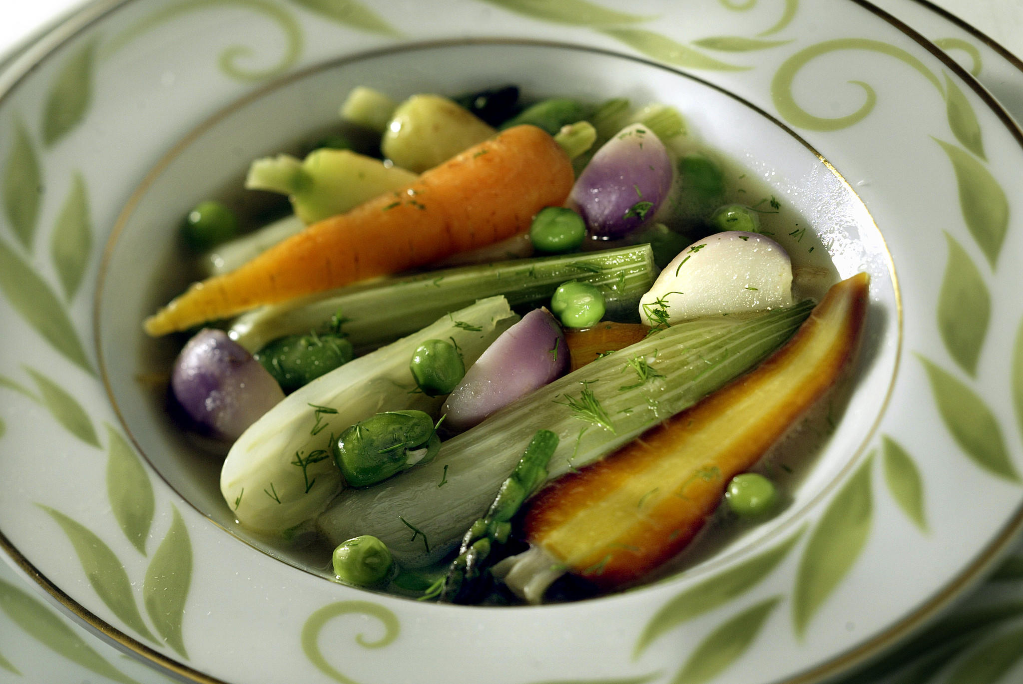Mixed spring vegetable ragout
