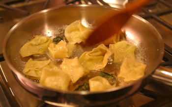 Tortelloni with sage butter