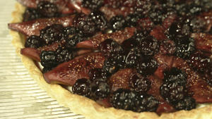 Mulberry and fig tart