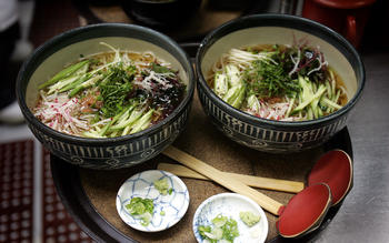 Traditional soba-tsuyu