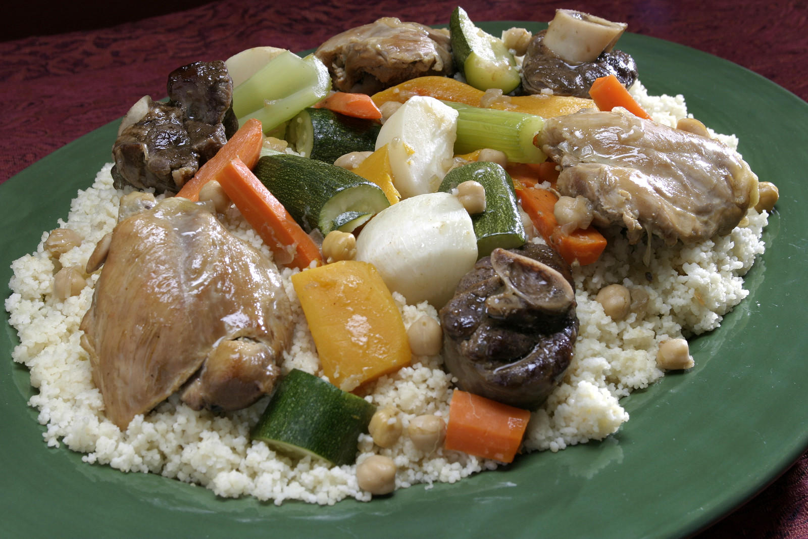 Couscous with seven vegetables
