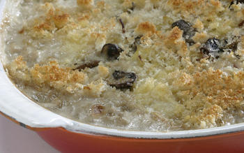 Mushroom and winter squash gratin