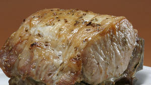 Standing rib roast of pork