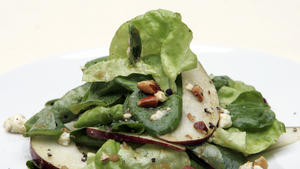 Butter lettuce salad with cipolline vinaigrette