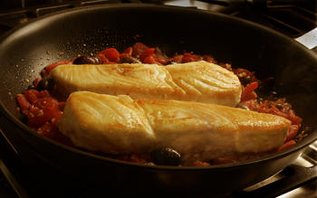 Quick halibut Provencal