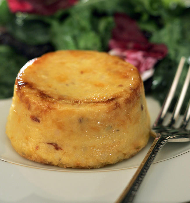 Cheddar-chipotle grits timbales
