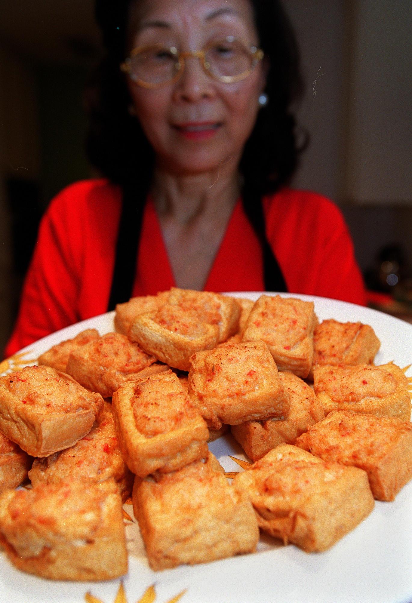 Recipe Pile Of Gold Tofu Stuffed With Shrimp California Cookbook
