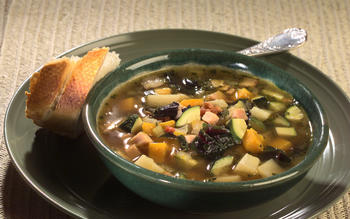 Roast turkey and winter vegetable chowder