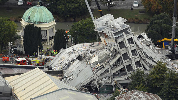 The Pyne Gould Corp. building collapsed when the magnitude 6.3 earthquake struck Christchurch, New Zealand. It was built in the 1960s, before the adoption of modern seismic standards for concrete buildings.