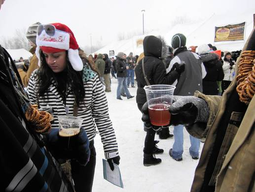 michigan winter beer fest demands layers of clothes and. Black Bedroom Furniture Sets. Home Design Ideas