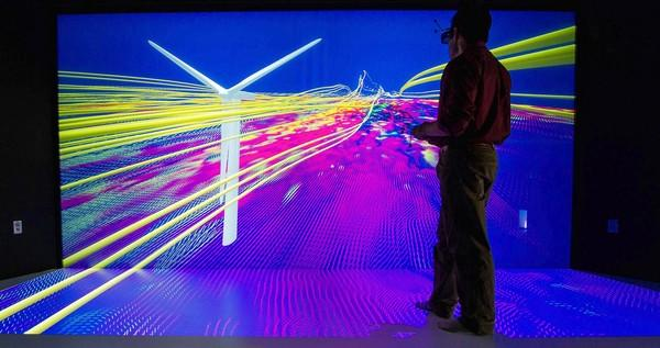 Visualization lab at the Energy Systems Integration Facility in Golden, Colo.