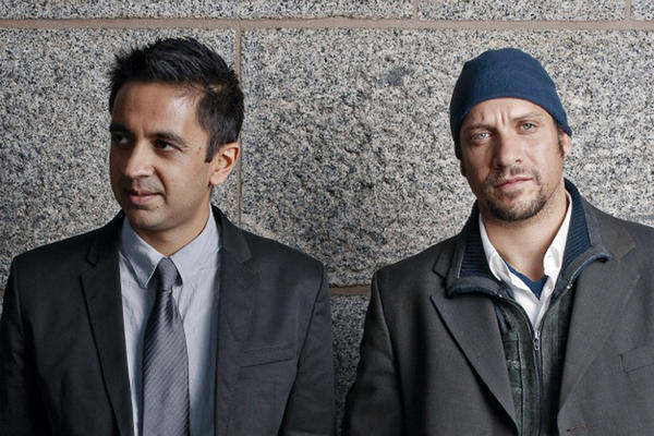 A photo of Vijay Iver and Mike Ladd.