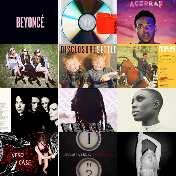 The album covers of the top 10 albums of 2013 as picked by the Los Angeles Times music staff.