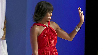 michelle obama s 2013 inaugural gown to go on display at smithsonian