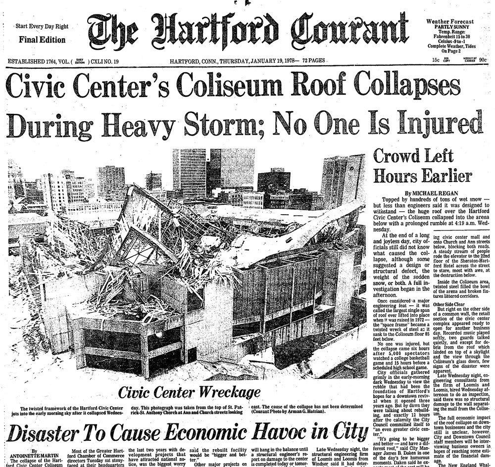 Jan 18 1978 Hartford Civic Center Roof Collapses