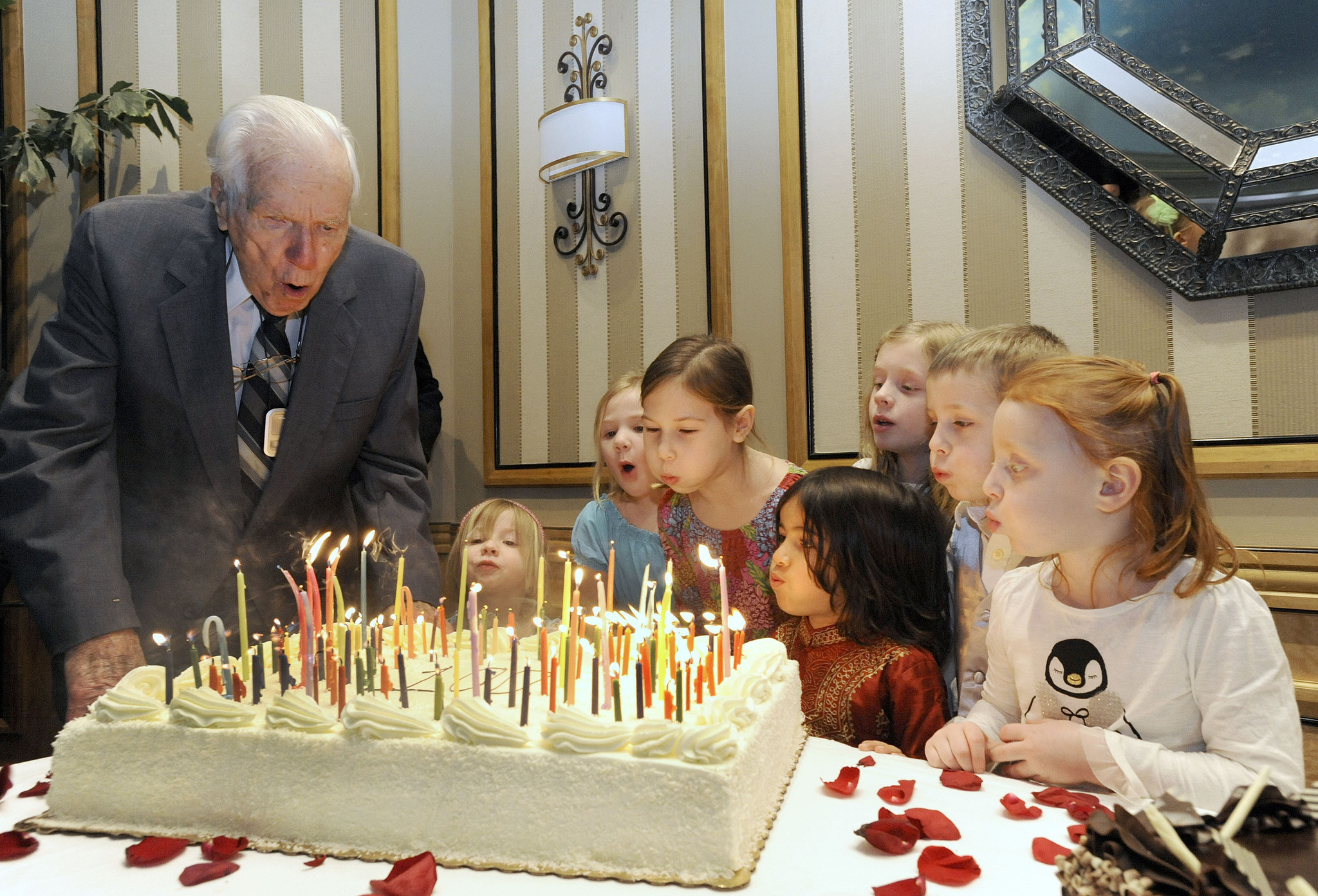 Captain John Slaughter Celebrates His 100th Birthday