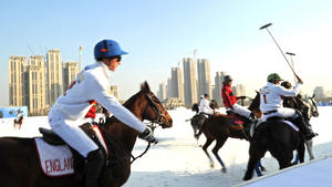 Snow polo a high-end diversion for China's rich