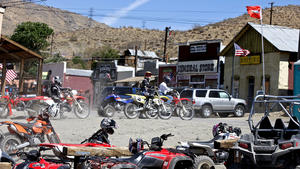 Bikers bring life to Mojave Desert ghost town