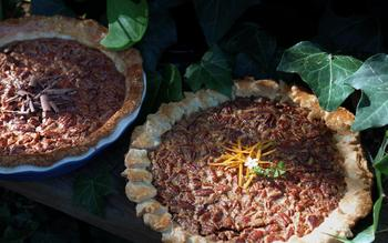 Pecan pie with a hint of orange