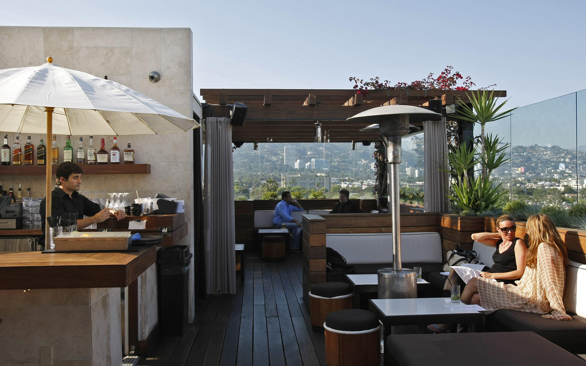 The Rooftop Bar Atop Former Thompson Beverly Hills Now Renamed Sixty