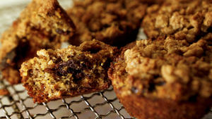 Clementine's whole grain muffin with plump dried cherries