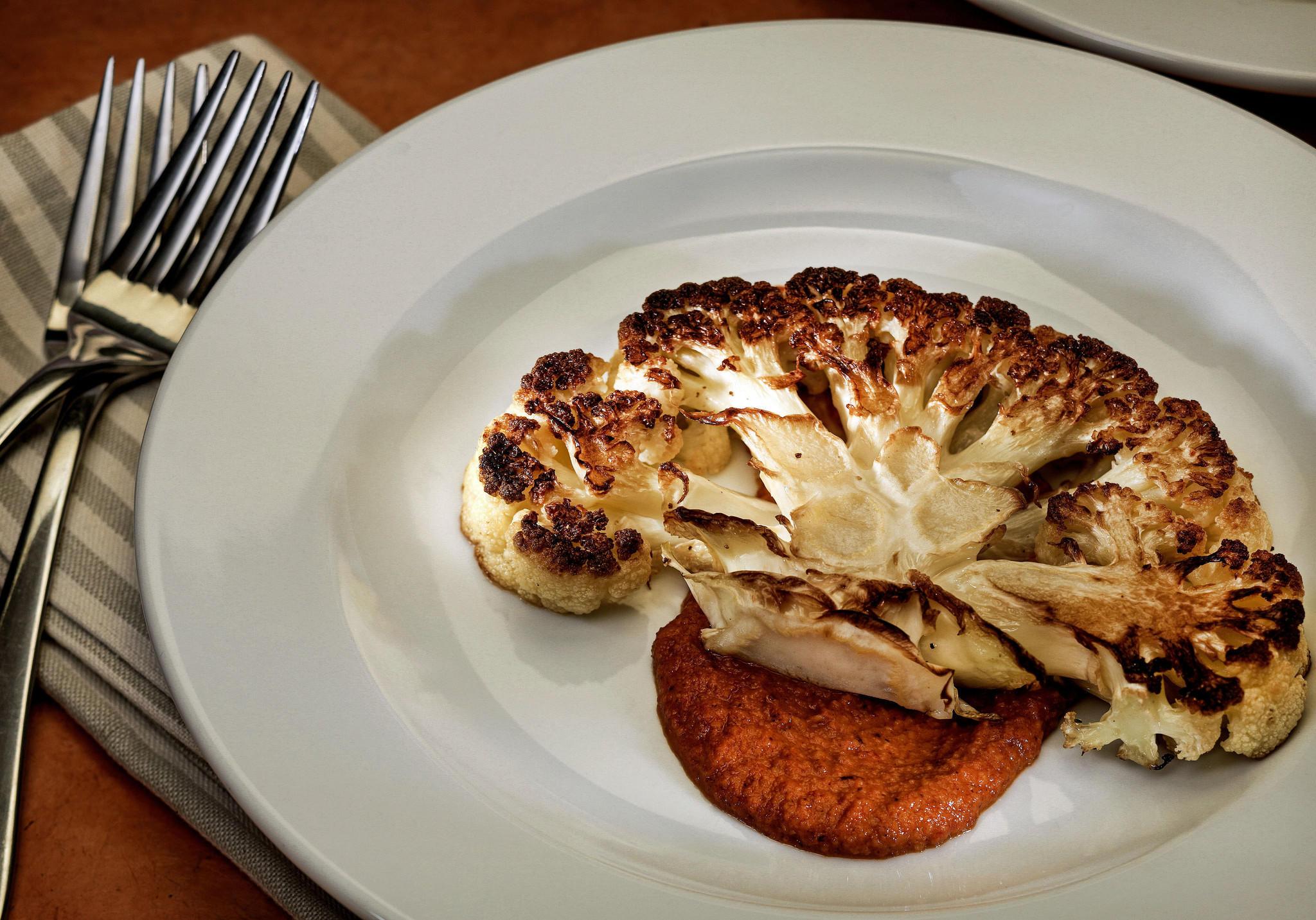 Recipe Cauliflower Steaks With Romesco Sauce California