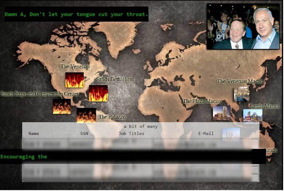 sheldon adelson hacked website