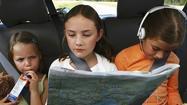 Children sitting in car