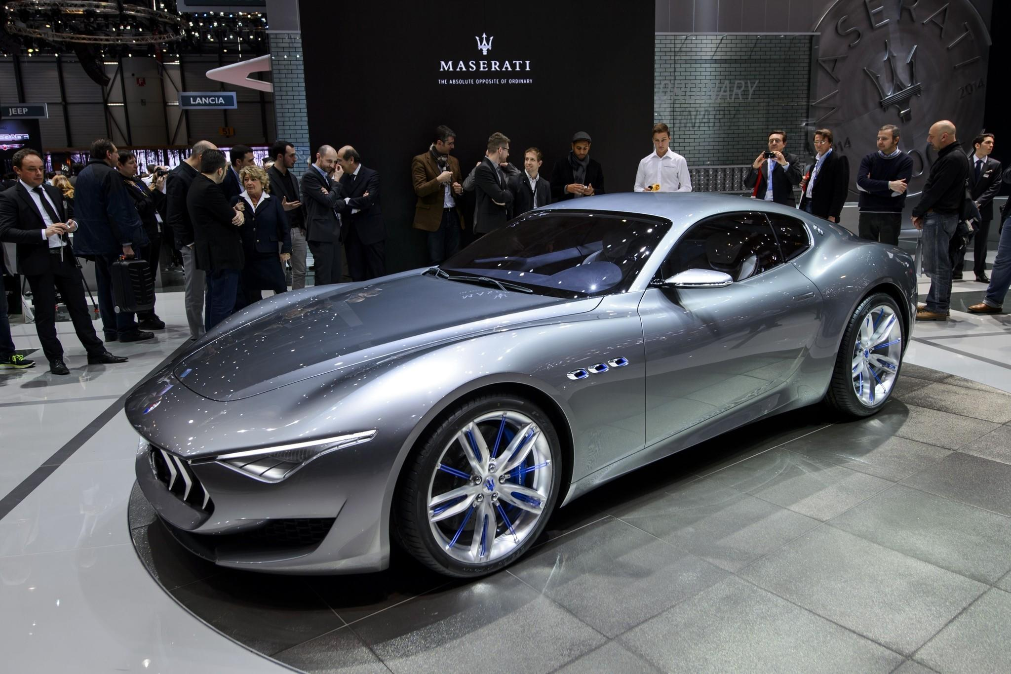 geneva motor show maserati debuts alfieri concept hinting at future latimes. Black Bedroom Furniture Sets. Home Design Ideas