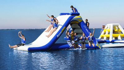 St Pete Beach Resort Opens Floating Water Park In Gulf Of Mexico Orlando Sentinel