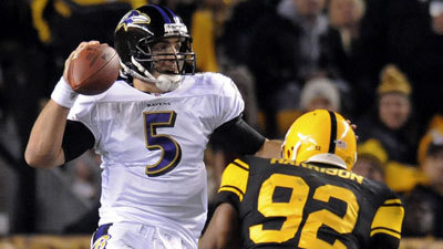 dfa7d22f4 Baltimore Ravens: Joe Flacco's touchdown pass to Torrey Smith gives the  Ravens a 23-20 win over the Pittsburgh Steelers - Baltimore Sun
