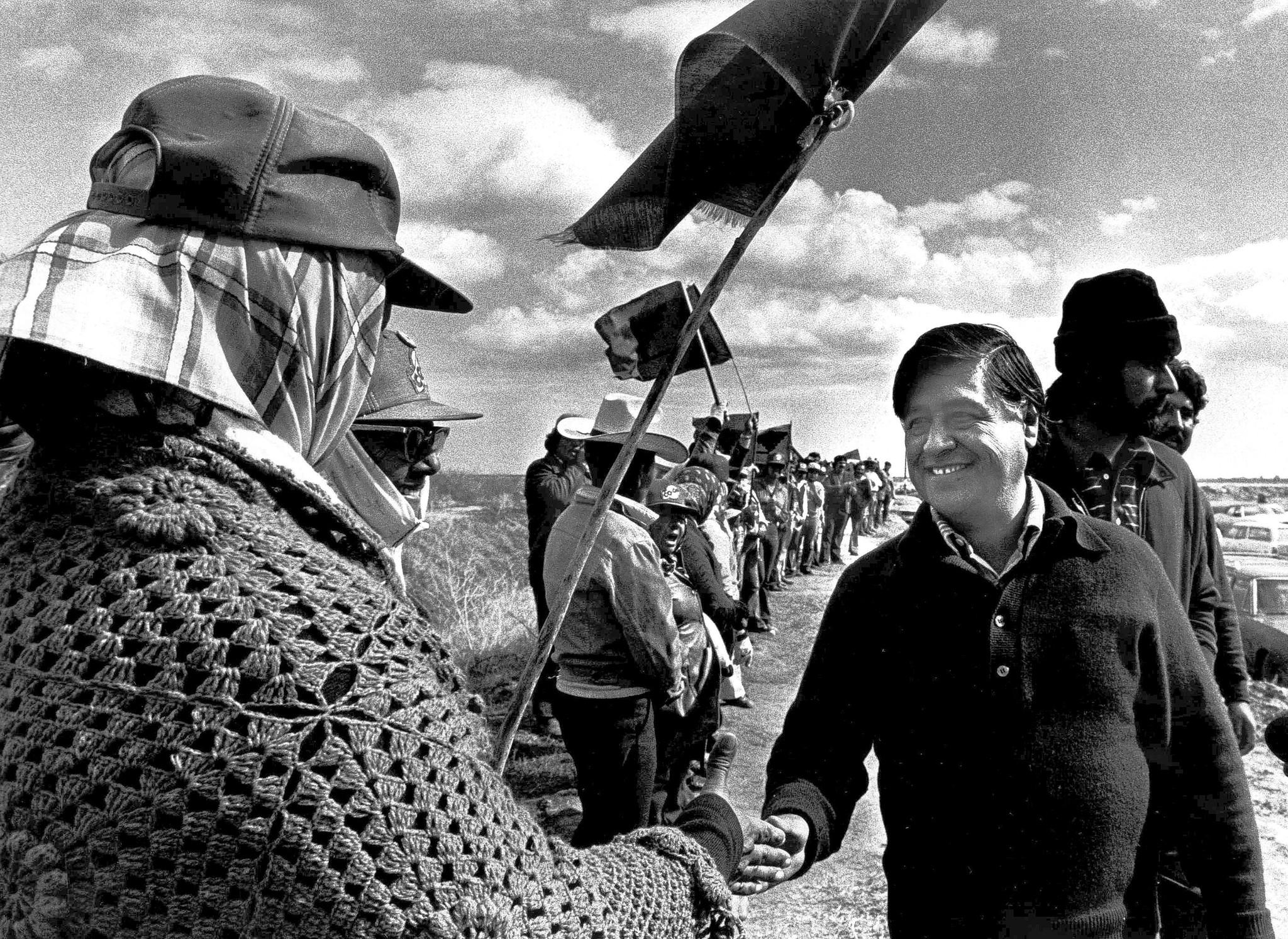 two versions of cesar chavez come to light in new film book latimes