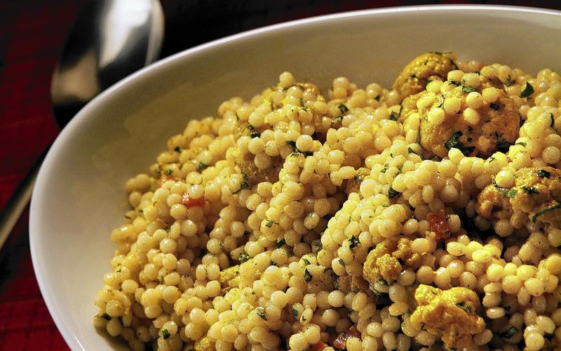 Mendocino Farms' vegan curried couscous with roasted cauliflower