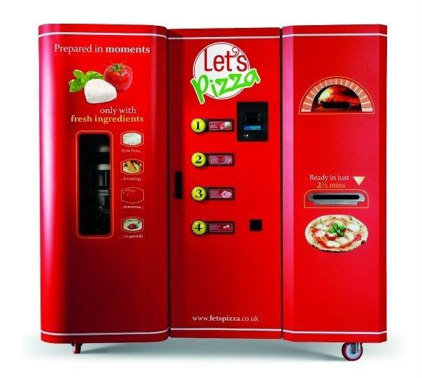 this pizza vending machine bakes fresh not frozen pies. Black Bedroom Furniture Sets. Home Design Ideas