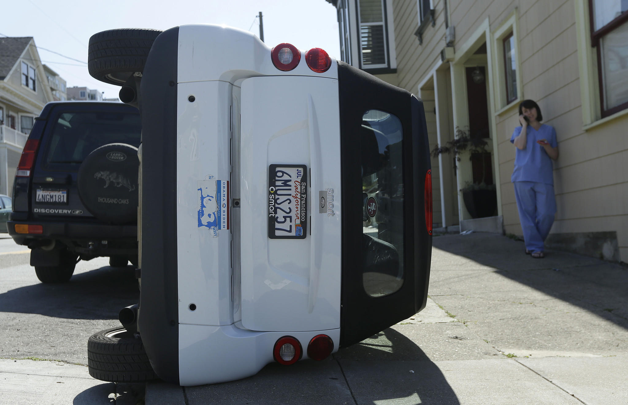 Rash Of Tipped Over Parked Smart Cars Leaves S F