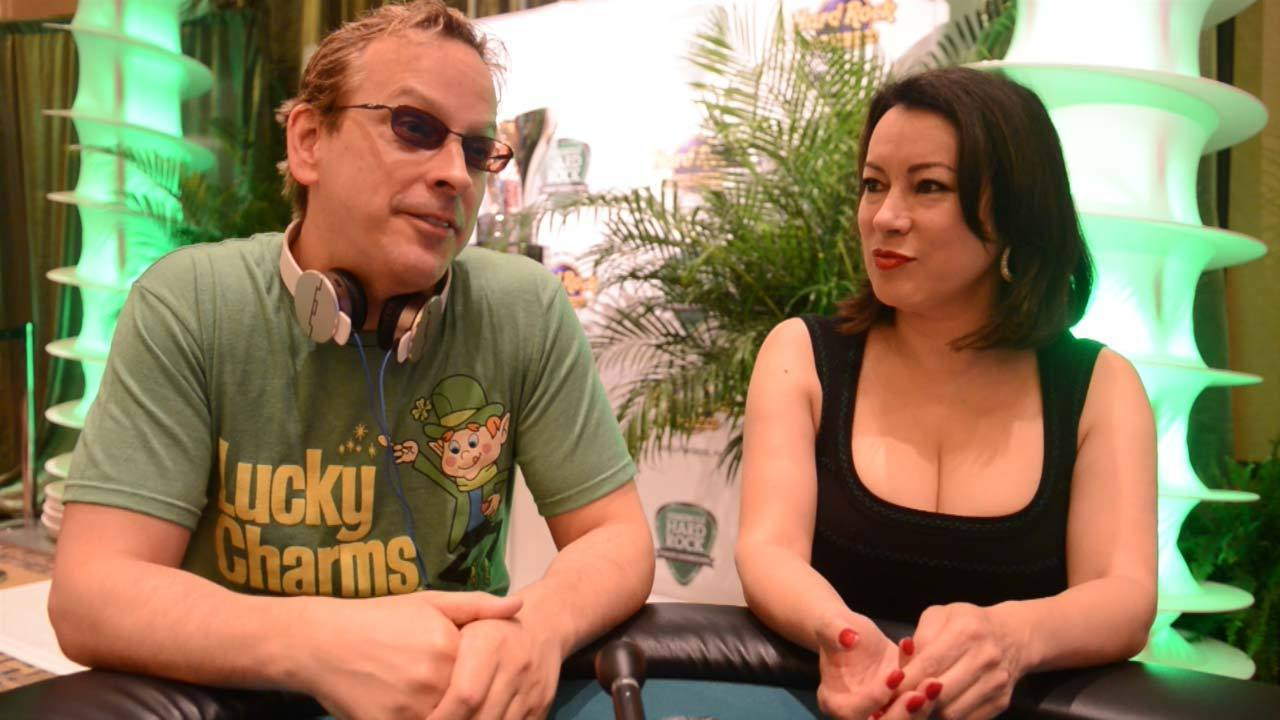 Jennifer Tilley and Phil Laak at Hard Rock poker tournament