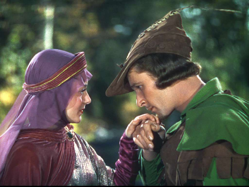 """The Adventures of Robin Hood"" starred Errol Flynn and Olivia de Havilland."