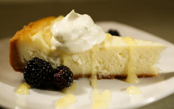 The Dutch Frontier's lemon cheesecake