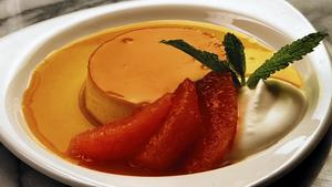 Jose Andres' flan from Jaleo in Vegas