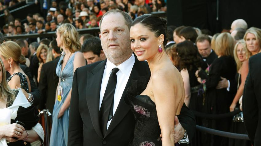 Harvey Weinstein and Georgina Chapman at the Academy Awards in 2011. None