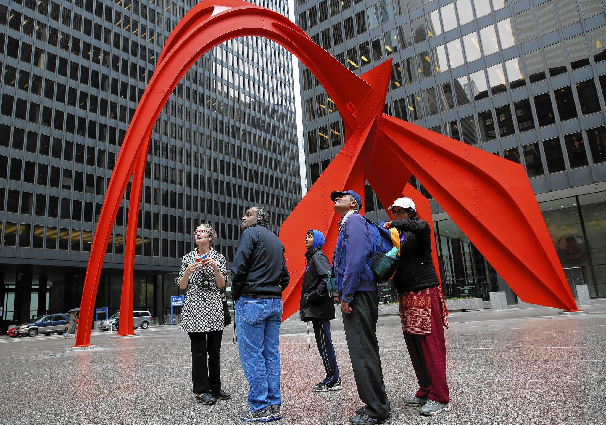 Standing In Federal Plaza Angela Platt Left With The Chicago Architecture Foundation