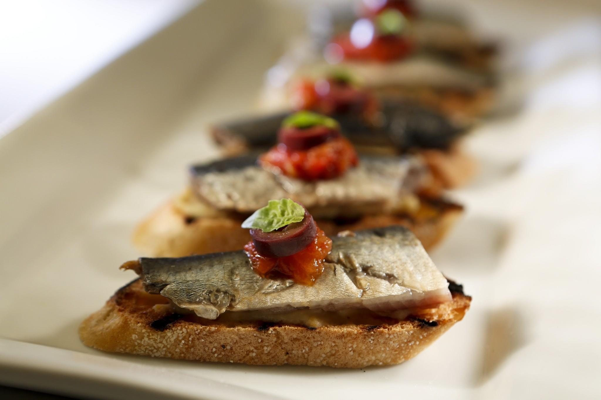 Recipe Pickled Sardines On Toast With Artichoke Puree