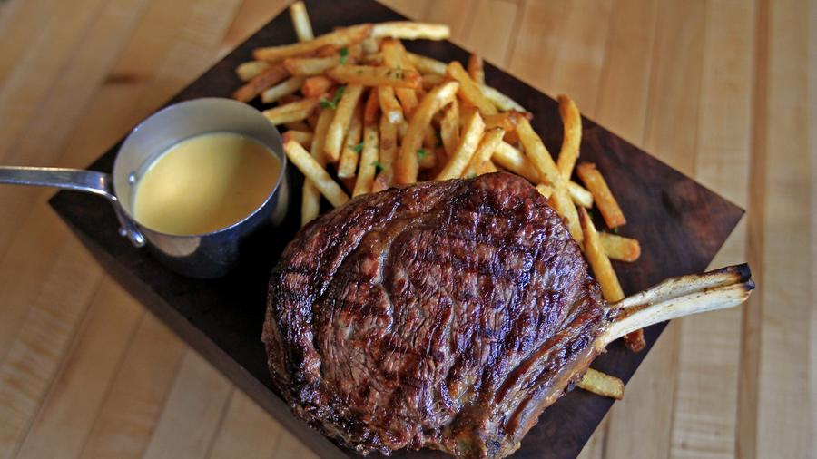 Steak and just about the best fries in Los Angeles are served at Rpublique.